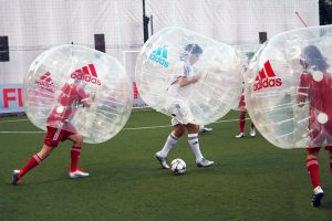 Evento Team Building Aziendale Adidas con Bubble Football Milano
