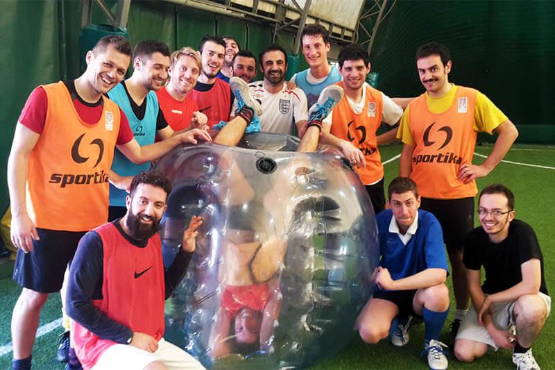Festa-addio-celibato-nubilato-bubble-soccer