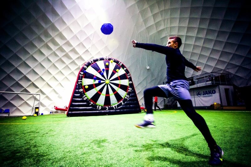Inflatable Football Darts rental in Italy
