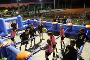 Inflatable human table soccer rental in Italy
