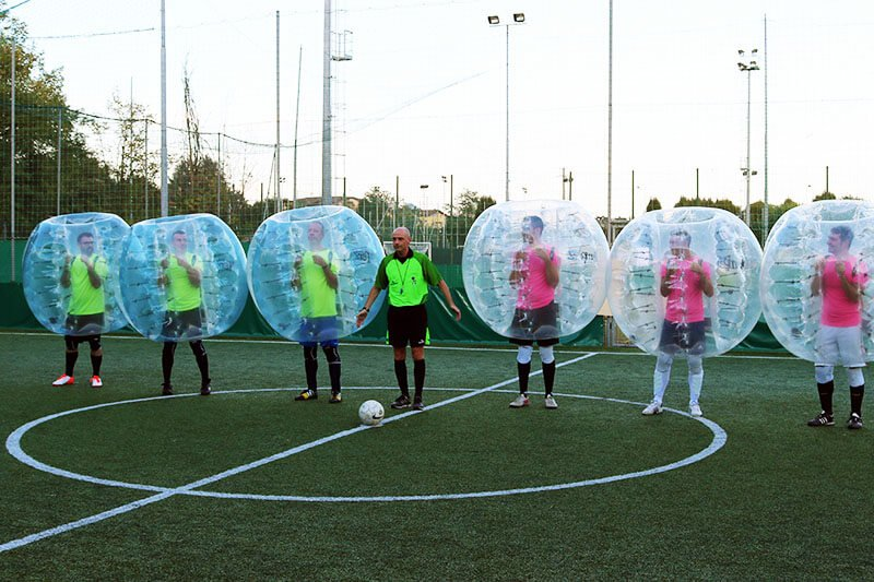 Corporate events and team bulding with Bubble Soccer Milan
