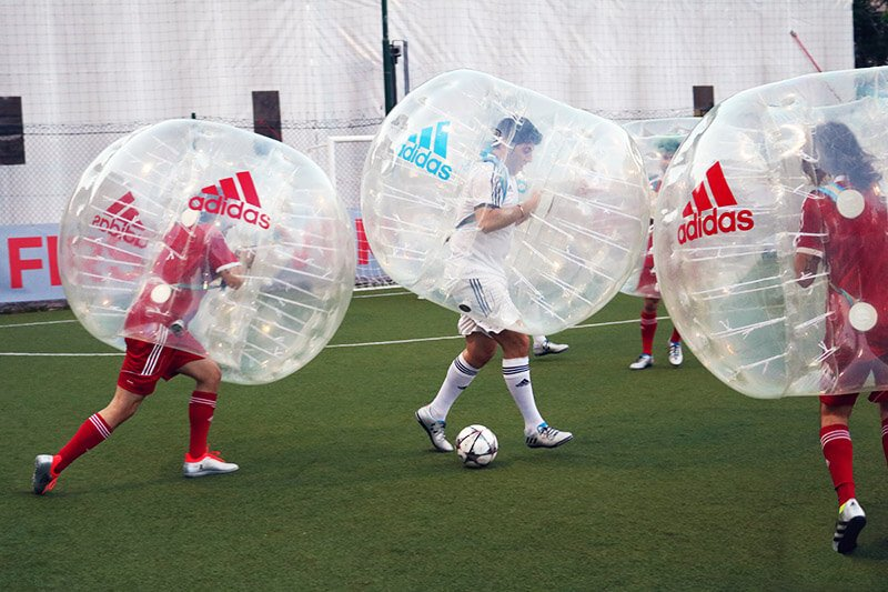 Adidas corporate event with Bubble Soccer