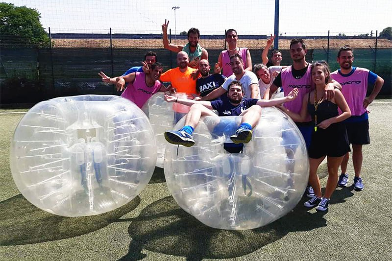 Hen and stag party with Bubble Soccer Milan