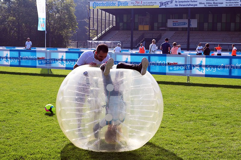 kids party with bubble soccer and staff entertainment