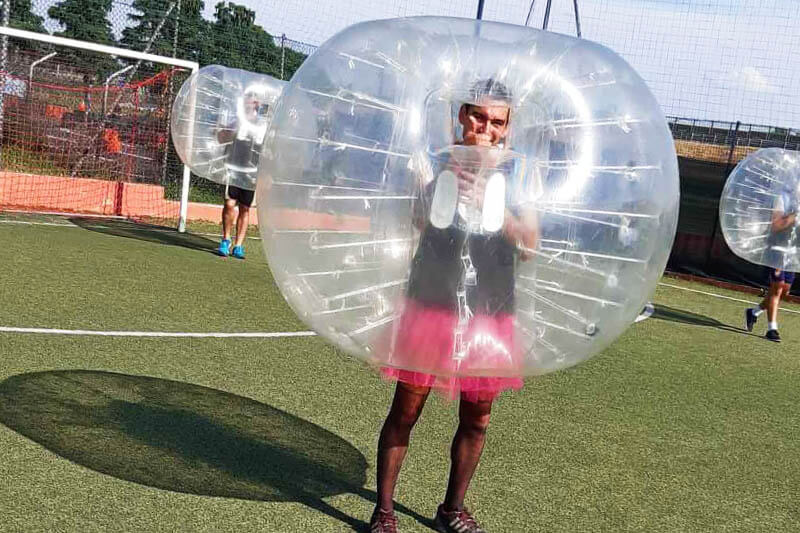 Bachelor party with Zorb Soccer Milan